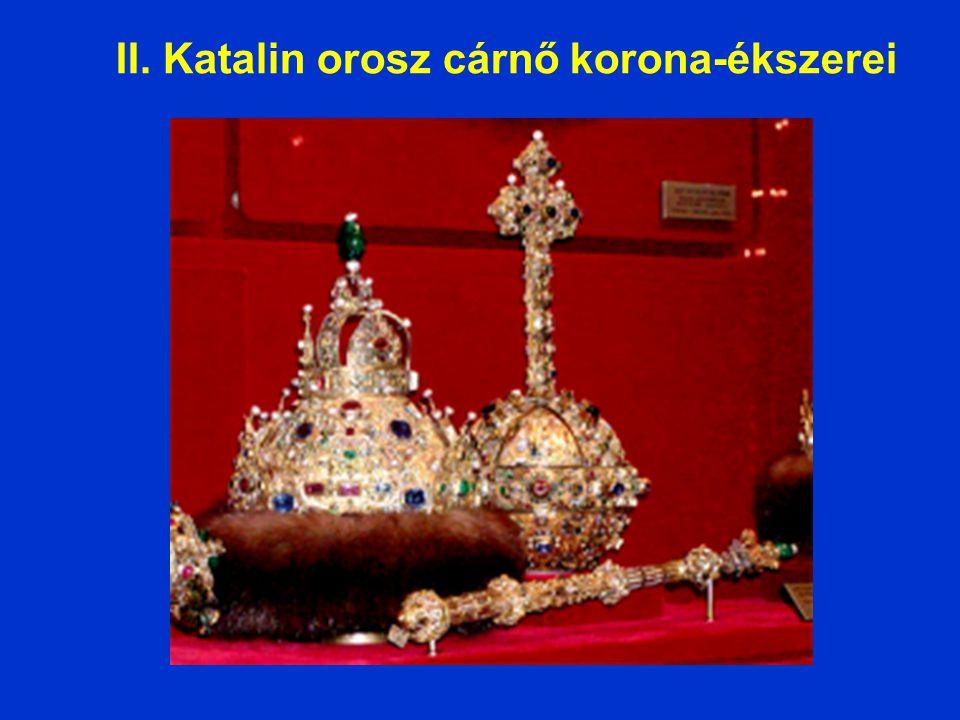 II. Katalin orosz cárnő korona-ékszerei