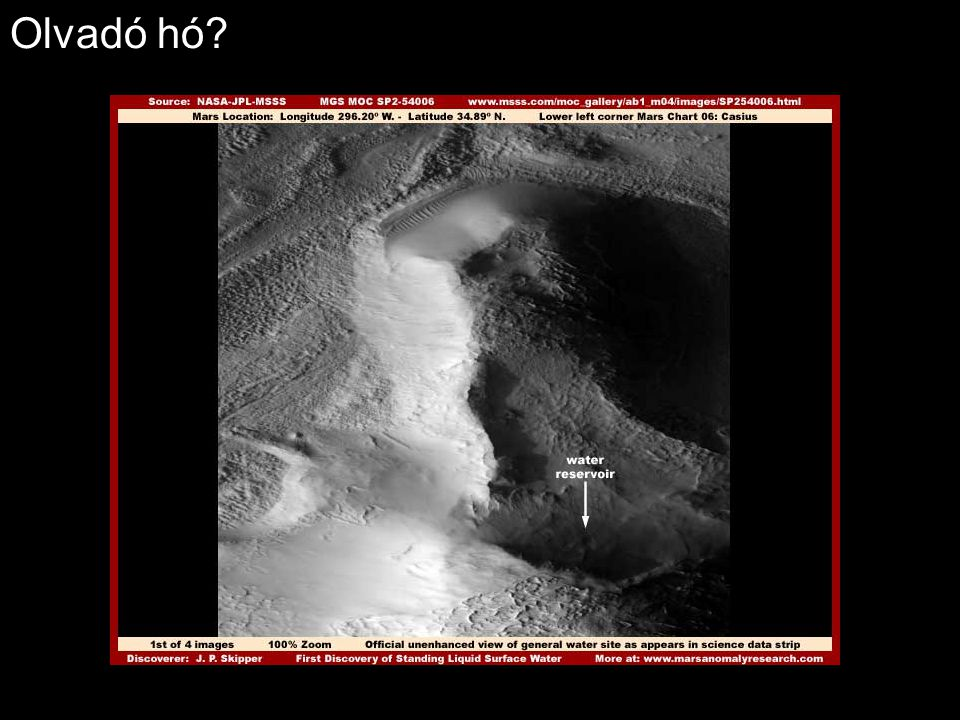 Víz a Marson?