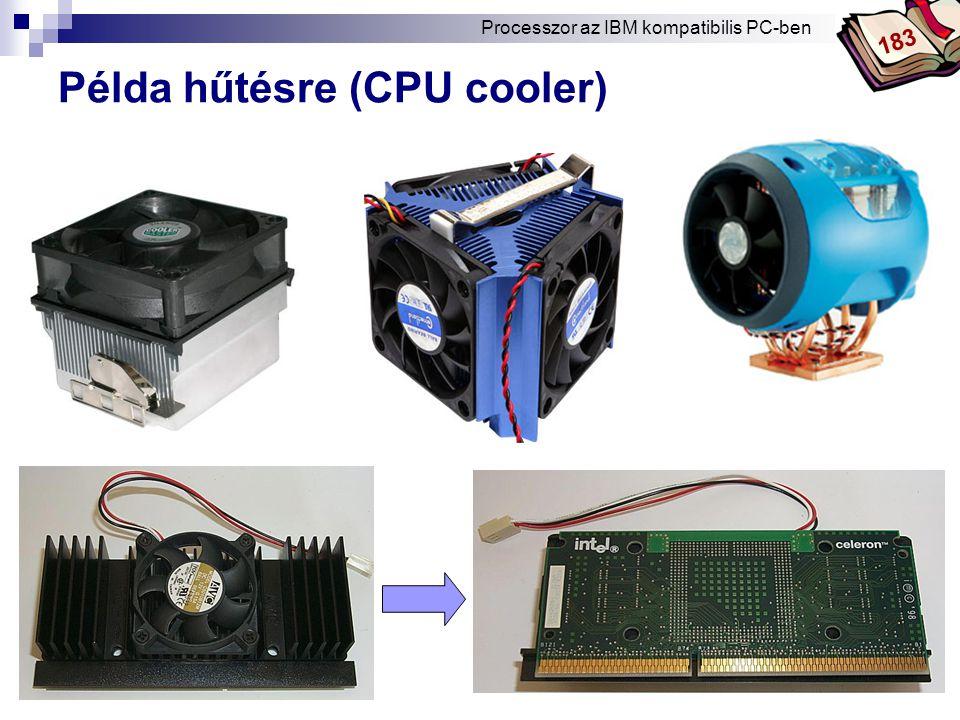Bóta Laca Példa hűtésre (CPU cooler) Processzor az IBM kompatibilis PC-ben 183