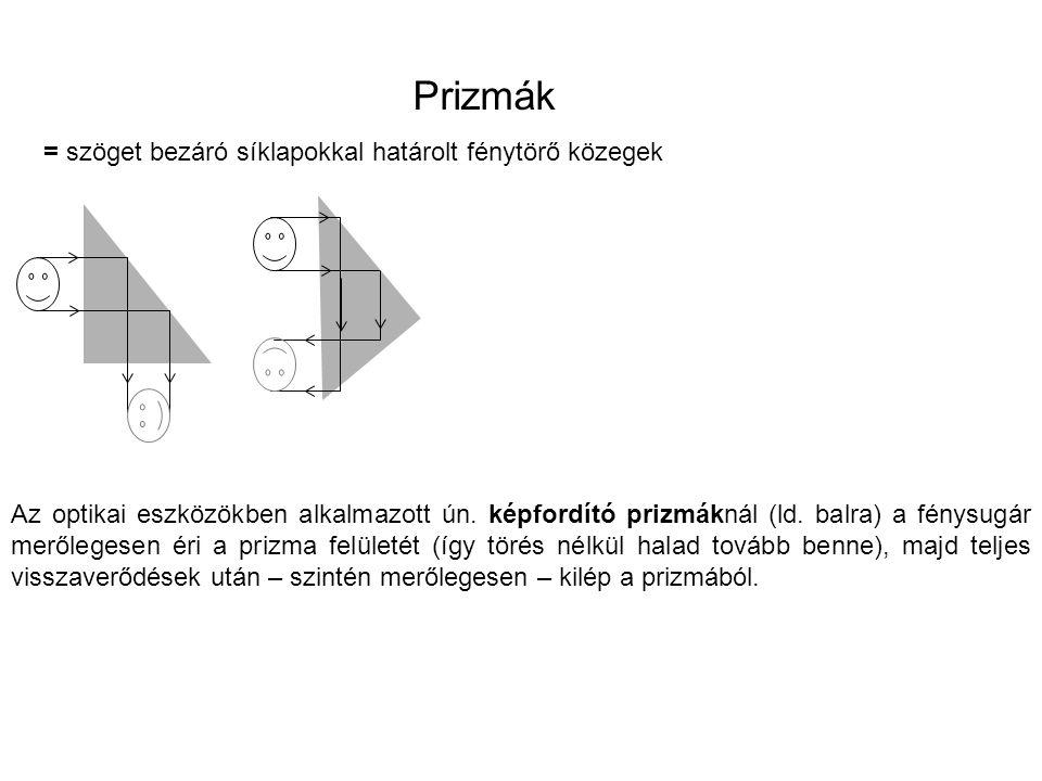 általánosabb esetben a fény kétszeri megtöréssel halad át a prizmán.