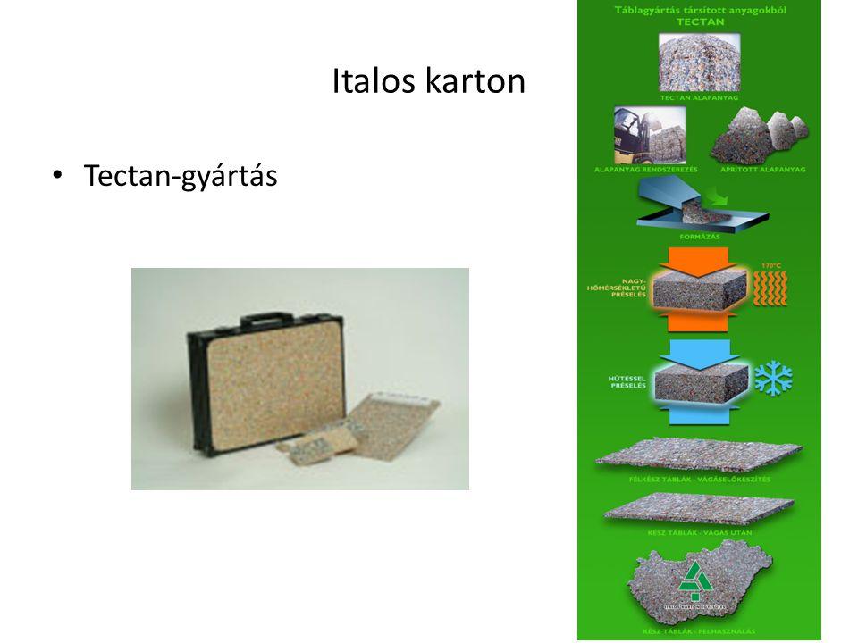 Tectan-gyártás