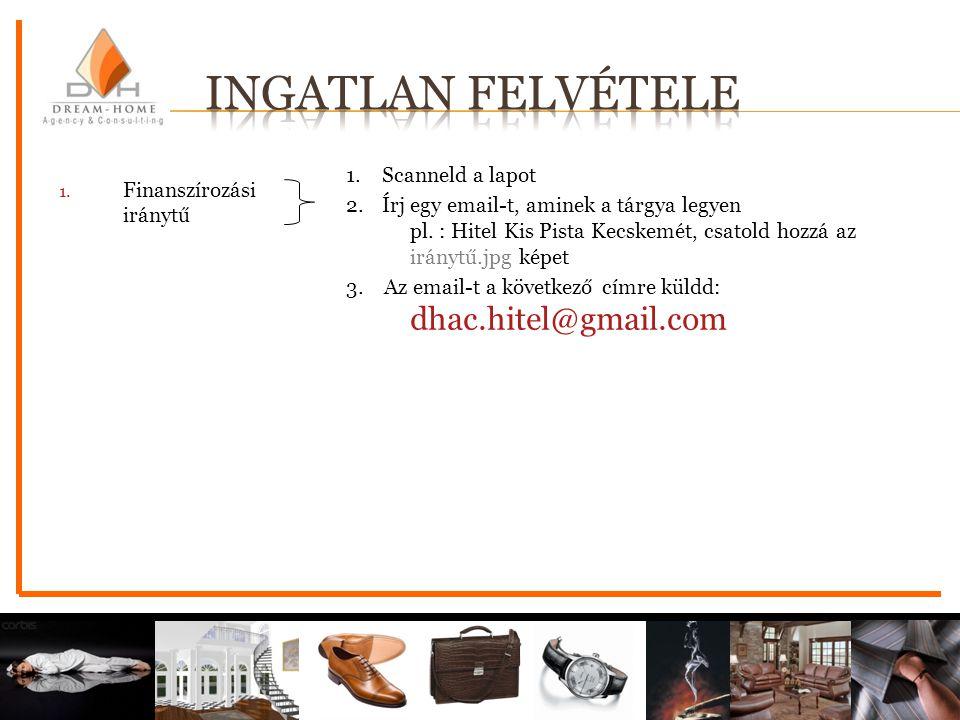 1. Scanneld a lapot 2. Írj egy email-t, aminek a tárgya legyen pl. : Hitel Kis Pista Kecskemét, csatold hozzá az iránytű.jpg képet 3. Az email-t a köv