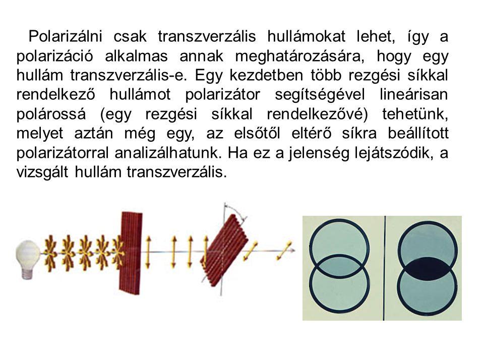 Alkalmazások: 3D –s vetítések Öveges professzor sarkított fény Hogyan készül a hologramHogyan készül a hologram (Discovery) Hologram házilag (szertár)