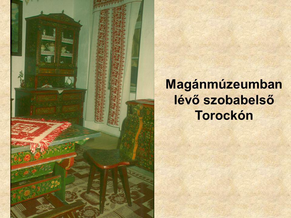Magánmúzeumban lévő szobabelső Torockón