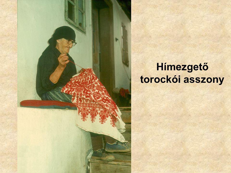 Hímezgető torockói asszony