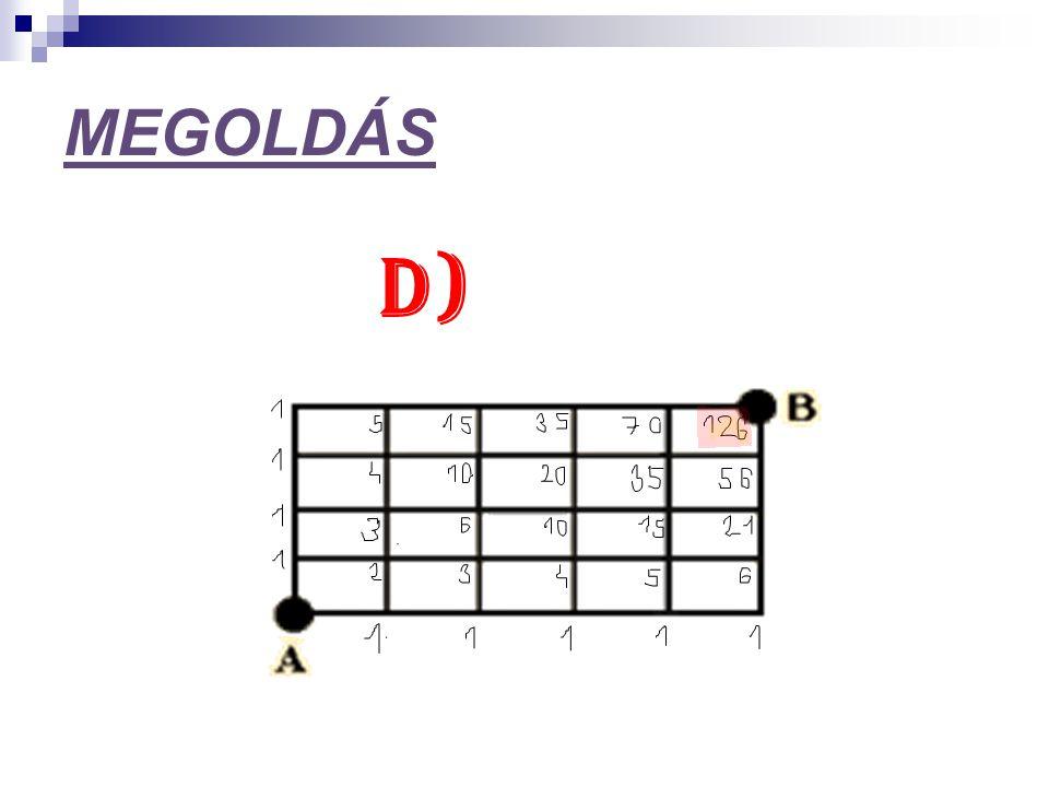 MEGOLDÁS D)