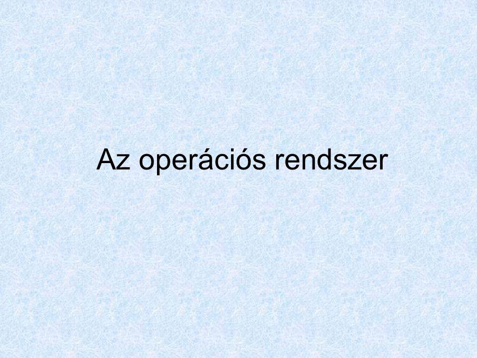 2006.szeptember 10.Sinkovics Ferenc Az operációs rendszer fogalma: Olyan program, amely: 1.