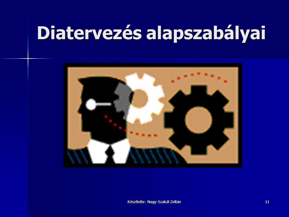 Készítette: Nagy-Szakál Zoltán11 Diatervezés alapszabályai