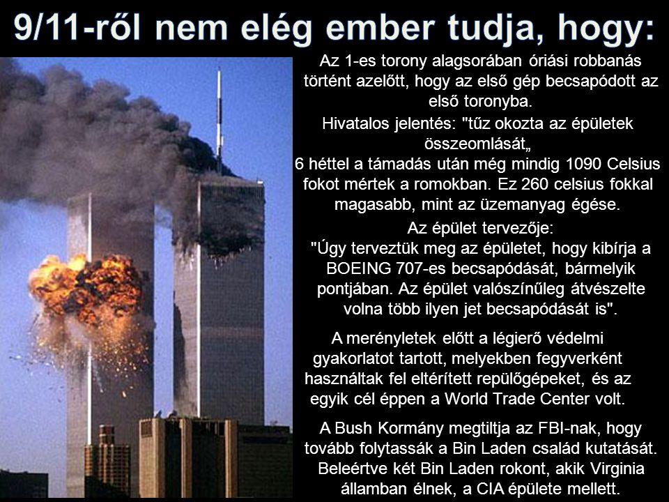 Az 1-es torony alagsorában óriási robbanás történt azelőtt, hogy az első gép becsapódott az első toronyba.
