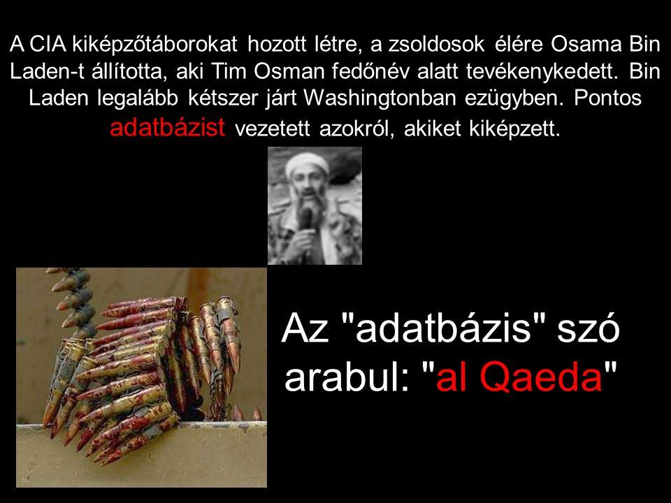 A CIA kiképzőtáborokat hozott létre, a zsoldosok élére Osama Bin Laden-t állította, aki Tim Osman fedőnév alatt tevékenykedett.