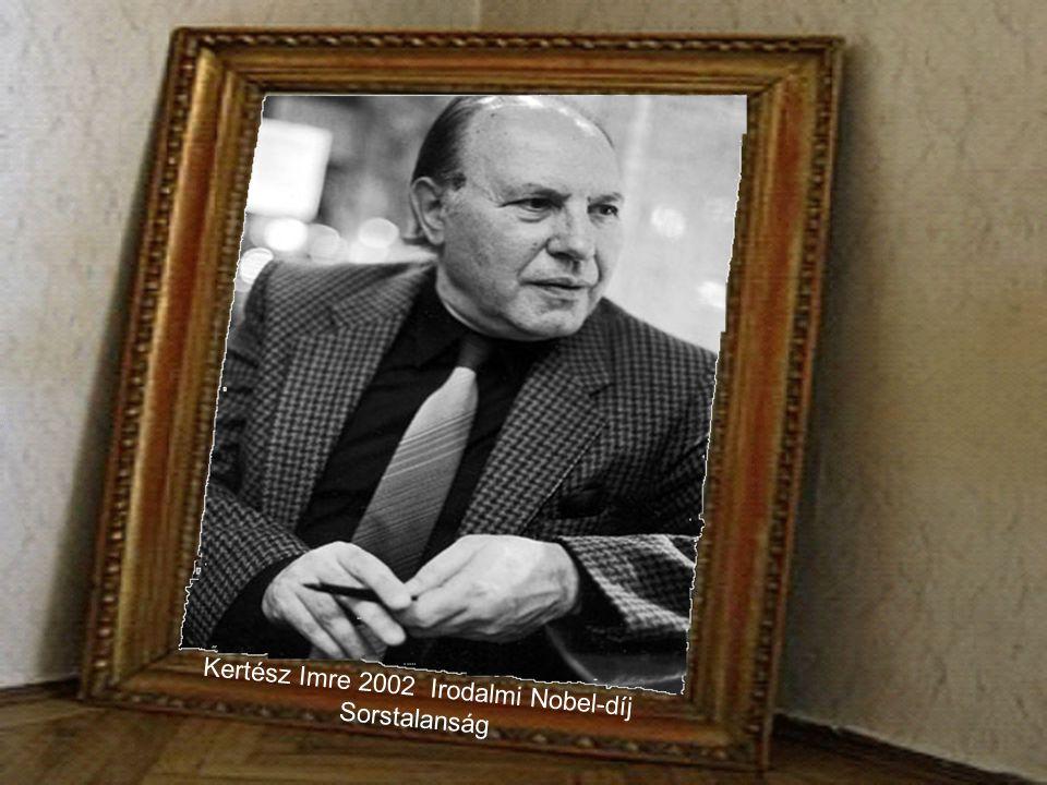 """Harsányi János 1994. évi közgazdasági Nobel-díj """"a nem-kooperatív játékok elméletében az egyensúly analízis terén végzett úttörô munkásságáért""""."""