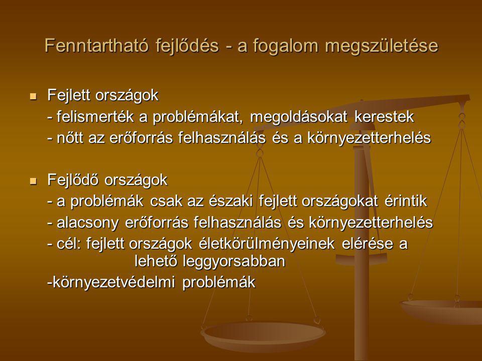 A fenntartható fejlődés Magyarországon 2008 Nemzeti Fenntartható Fejlődési Tanács 2008 Nemzeti Fenntartható Fejlődési Tanács - A Magyar Országgyűlés önálló intézménye - Jelentést készít hazánk fenntarthatósági állapotáról állapotáról - 2011.