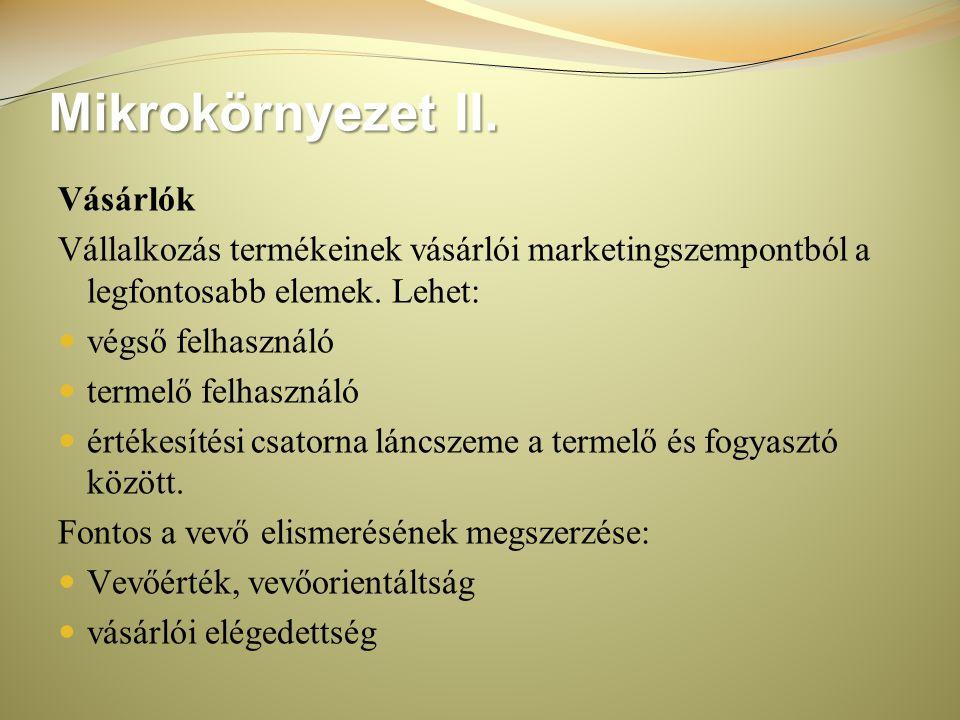Mikrokörnyezet II.