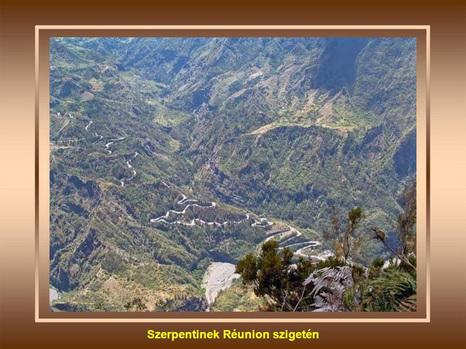 Szerpentinek Réunion szigetén