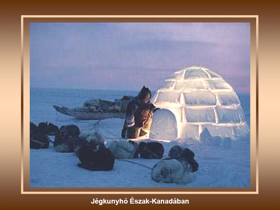 Jégkunyhó Észak-Kanadában