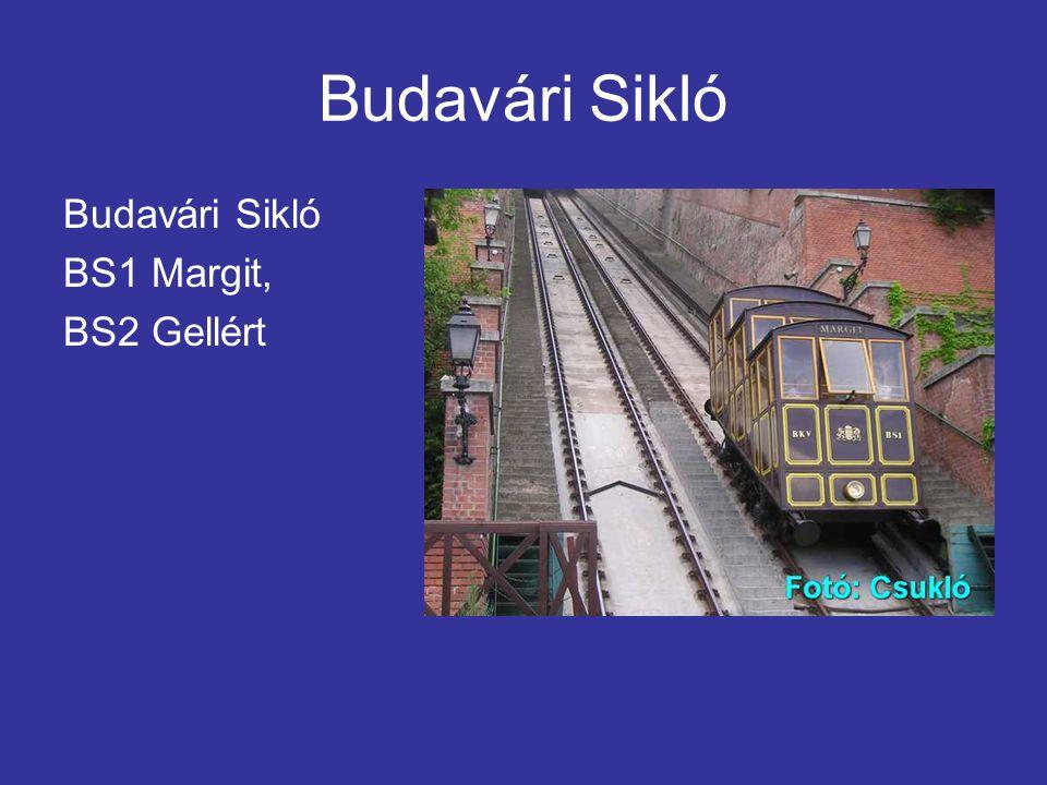 Budavári Sikló BS1 Margit, BS2 Gellért