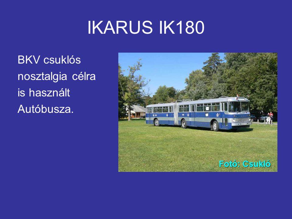 IKARUS IK180 BKV csuklós nosztalgia célra is használt Autóbusza.