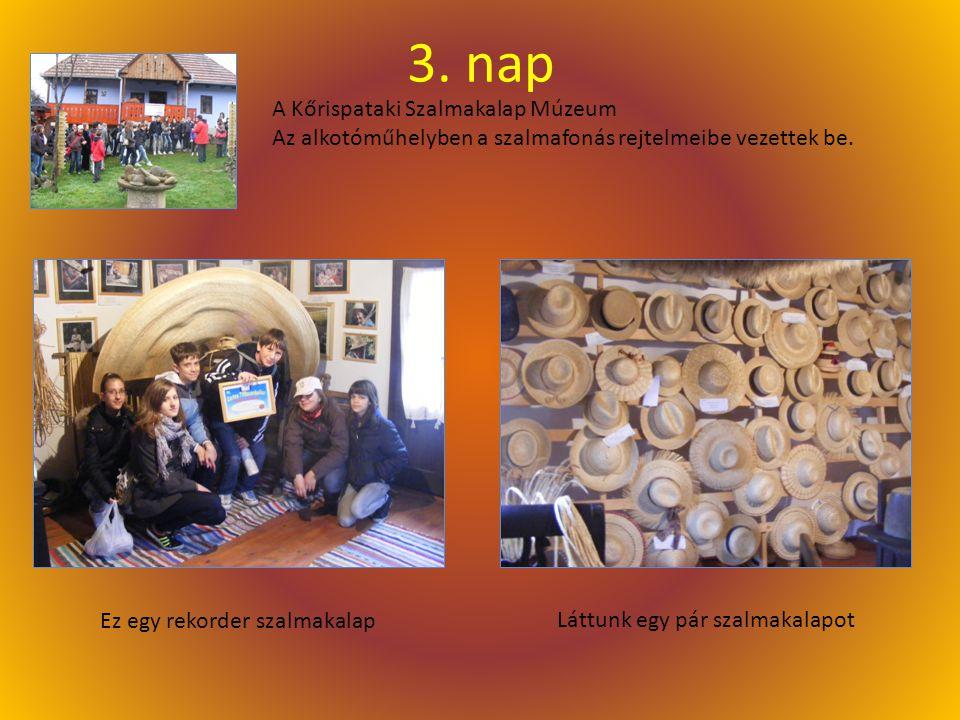 3.nap A Kőrispataki Szalmakalap Múzeum Az alkotóműhelyben a szalmafonás rejtelmeibe vezettek be.
