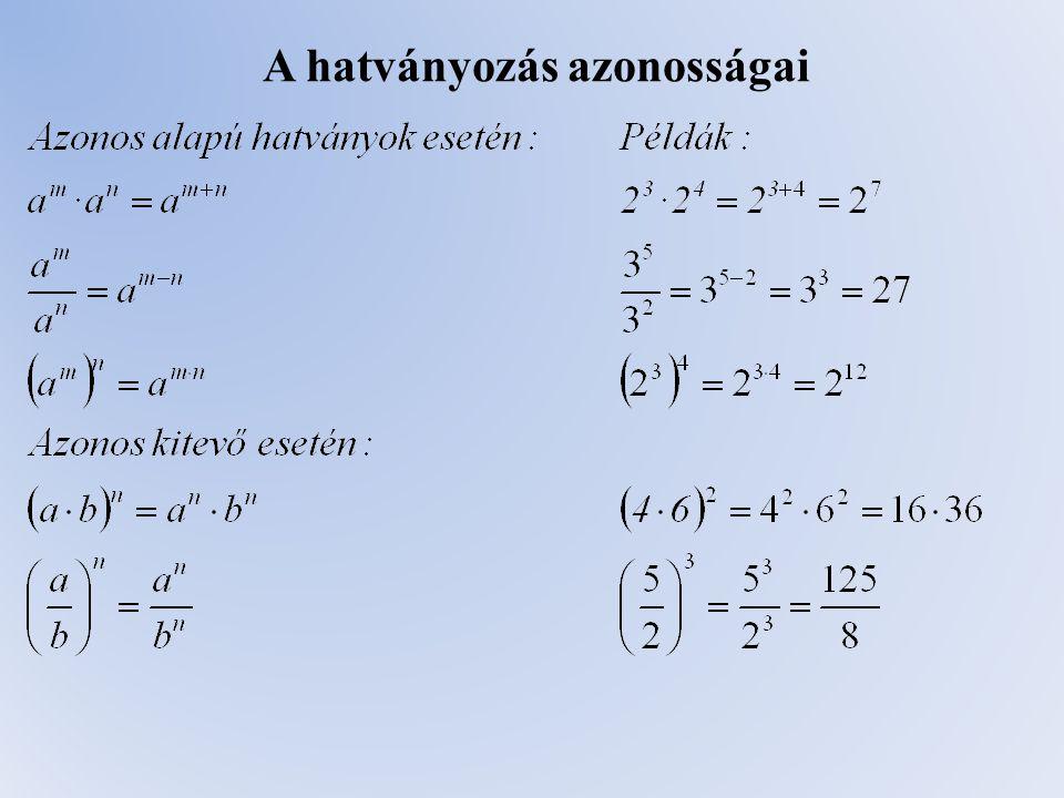 Egyenlőre ennyit az algebráról. A második félévben folytatjuk az egyenletekkel. Jó tanulást!