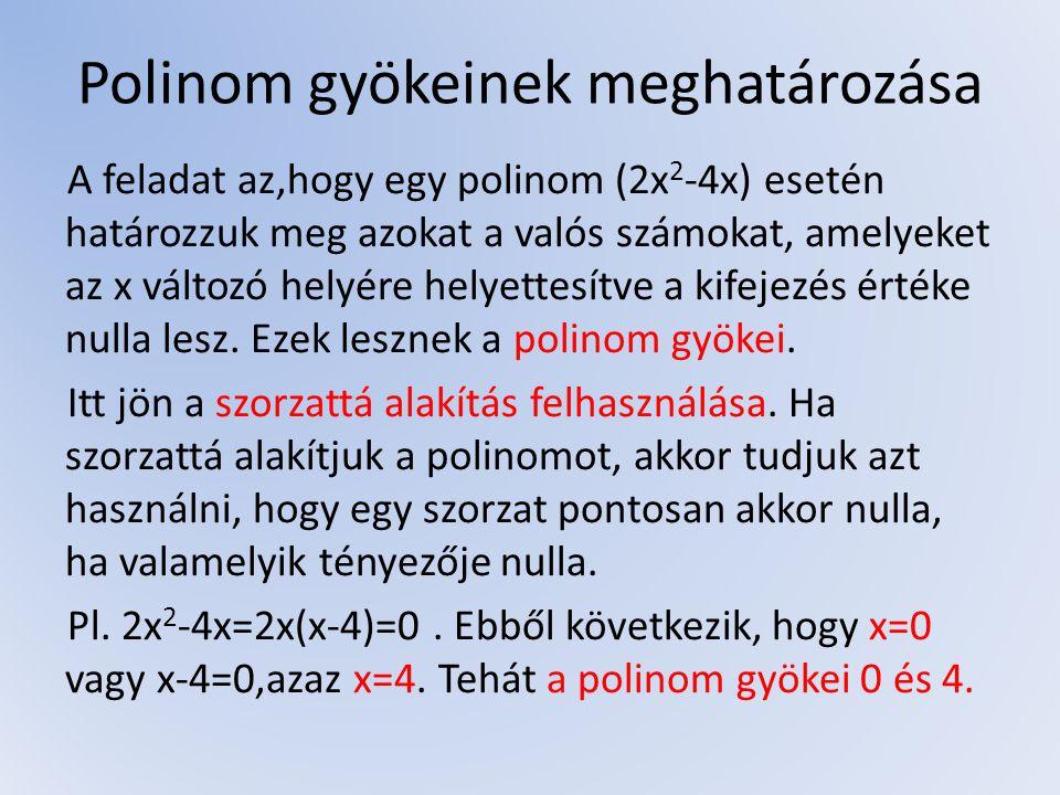 Műveletek algebrai törtek között Ha az a feladat, hogy hozzuk egyszerűbb alakra a kifejezést, akkor egyszerűsíteni kell a törtet.