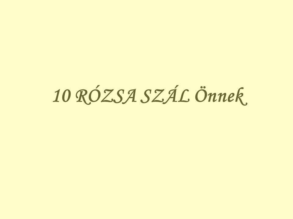 10 RÓZSA SZÁL Önnek