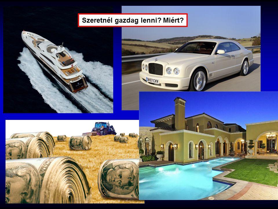 Szeretnél gazdag lenni? Miért?