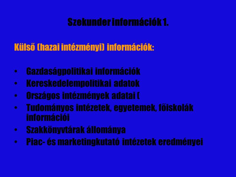 Szekunder információk 2.