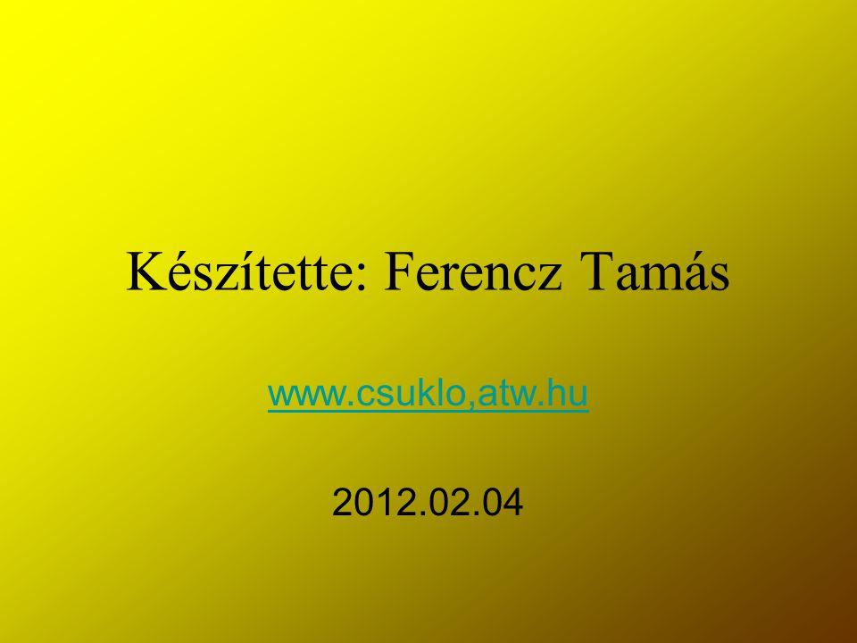 Készítette: Ferencz Tamás www.csuklo,atw.hu 2012.02.04