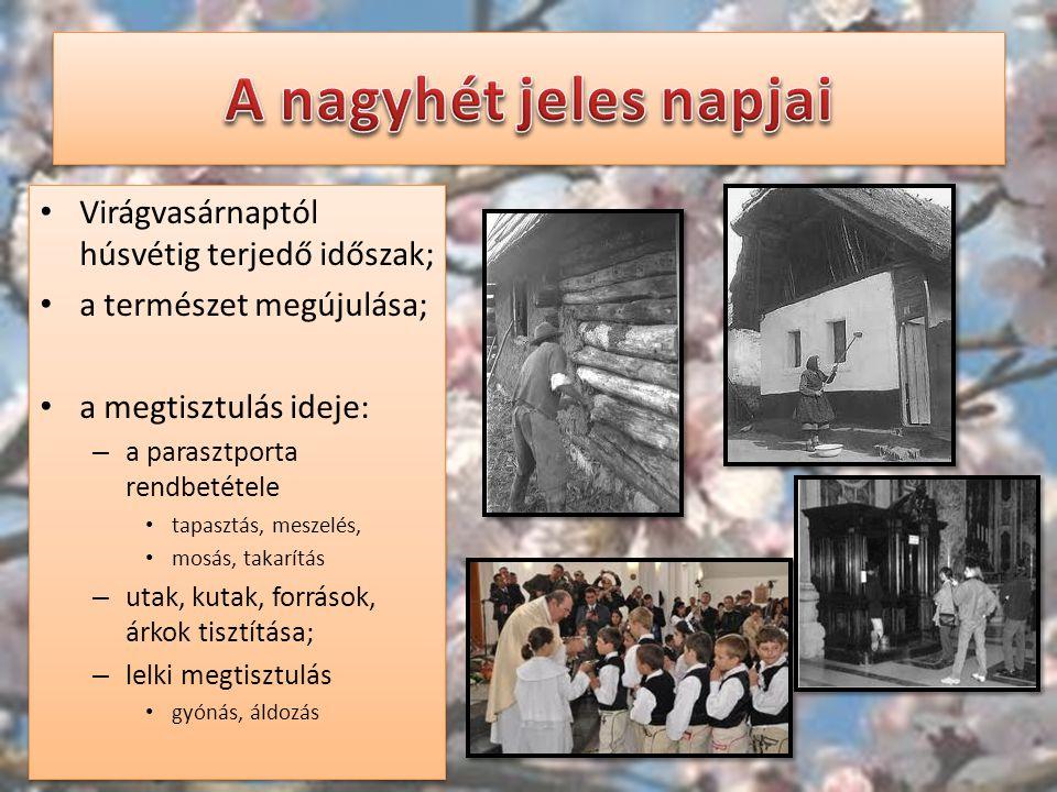 """Nagycsütörtök – """"A harangok Rómába mennek (utoljára szólnak); – harangszó helyett kereplő; – rituális lábmosás; Az utolsó vacsora előtt így tett Jézus is a tanítványaival."""