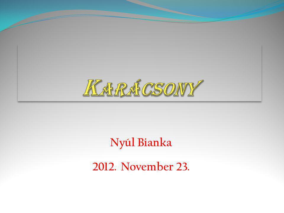 Nyúl Bianka 2012. November 23.