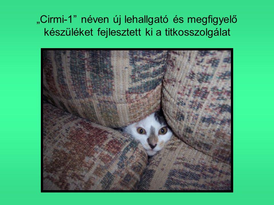 """""""Cirmi-1 néven új lehallgató és megfigyelő készüléket fejlesztett ki a titkosszolgálat"""