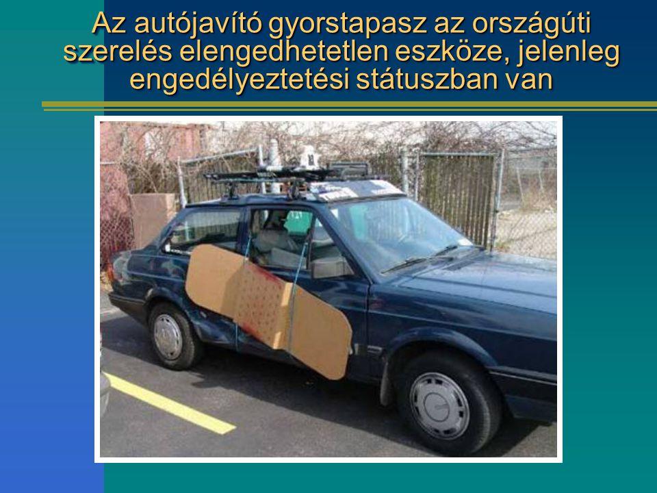 Az autójavító gyorstapasz az országúti szerelés elengedhetetlen eszköze, jelenleg engedélyeztetési státuszban van