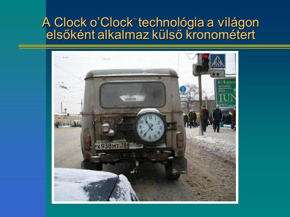 A Clock o'Clock ™ technológia a világon elsőként alkalmaz külső kronométert