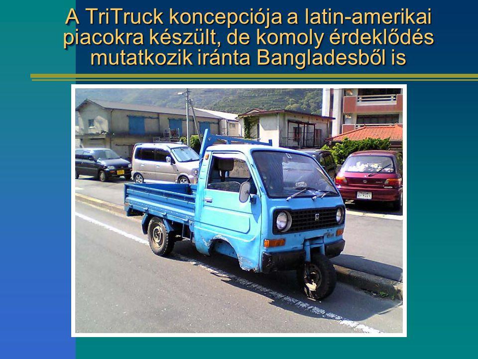 A TriTruck koncepciója a latin-amerikai piacokra készült, de komoly érdeklődés mutatkozik iránta Bangladesből is