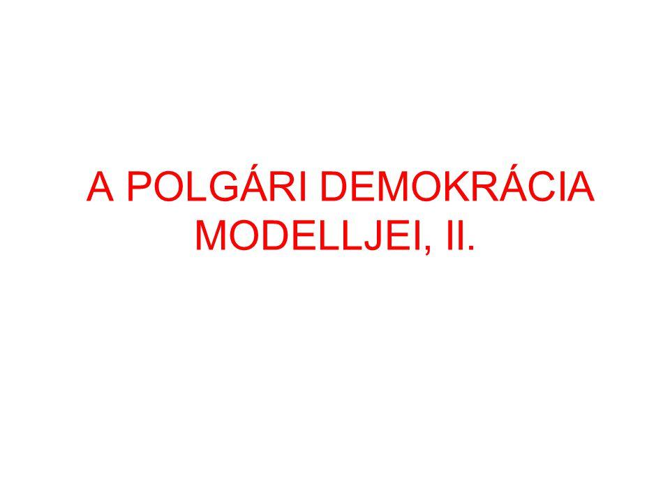 A POLGÁRI DEMOKRÁCIA MODELLJEI, II.