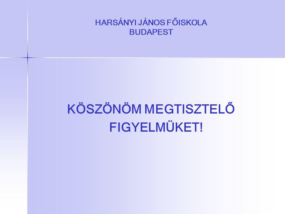 HARSÁNYI JÁNOS FŐISKOLA BUDAPEST KÖSZÖNÖM MEGTISZTELŐ FIGYELMÜKET!