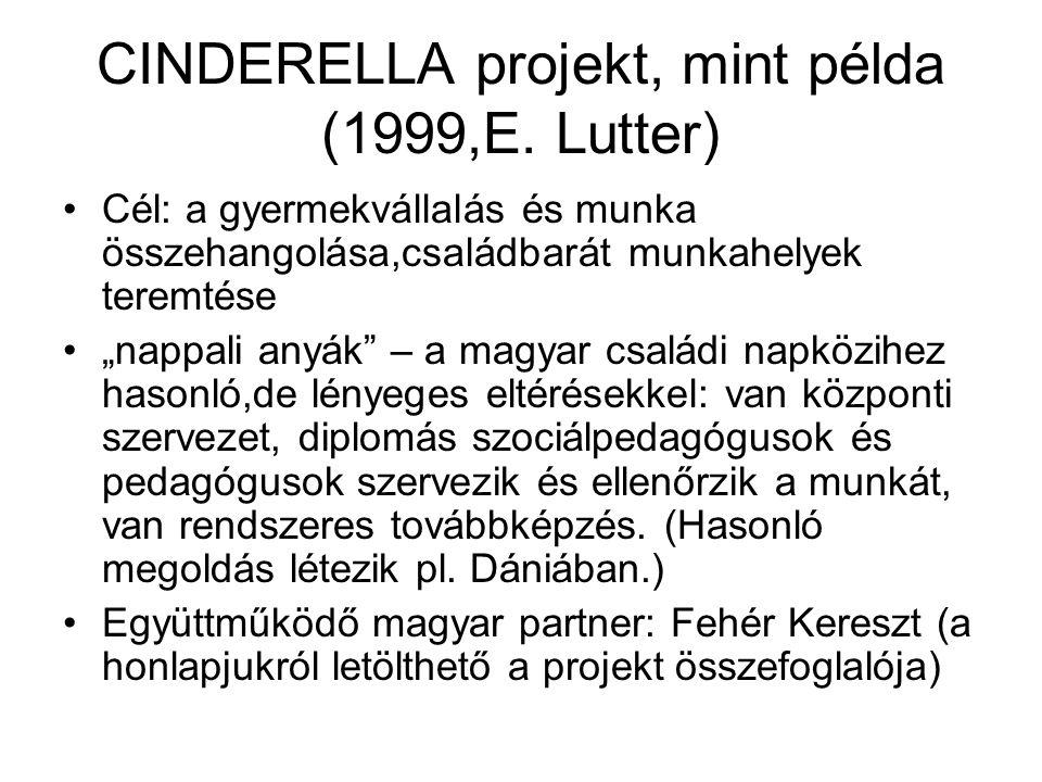 CINDERELLA projekt, mint példa (1999,E.