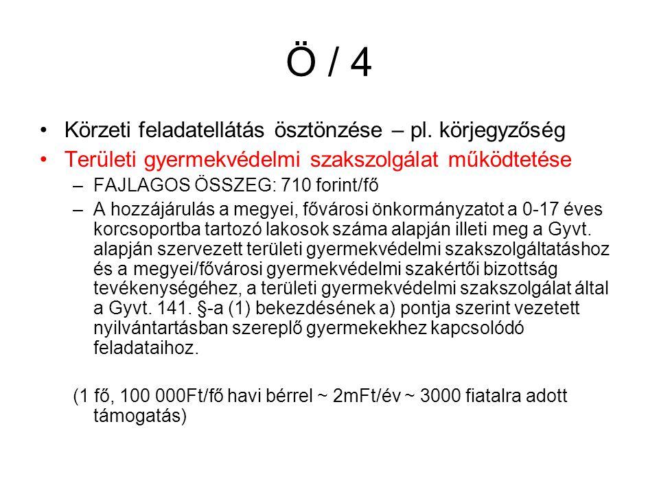 Ö / 4 Körzeti feladatellátás ösztönzése – pl.