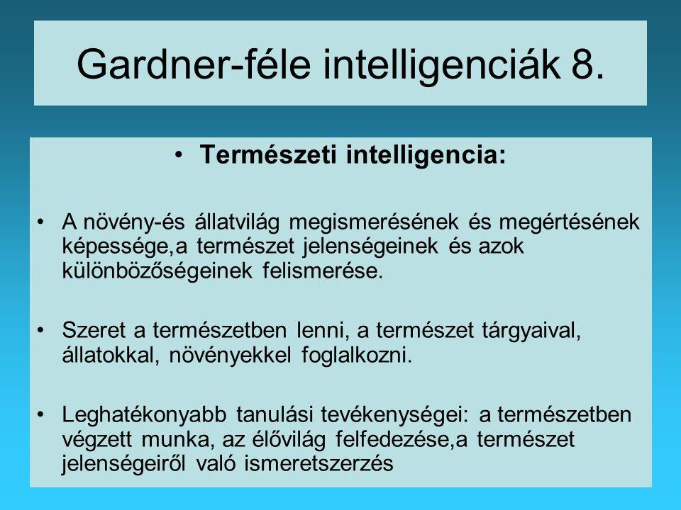 Gardner-féle intelligenciák 8.