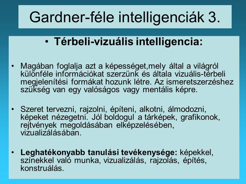 Gardner-féle intelligenciák 3.