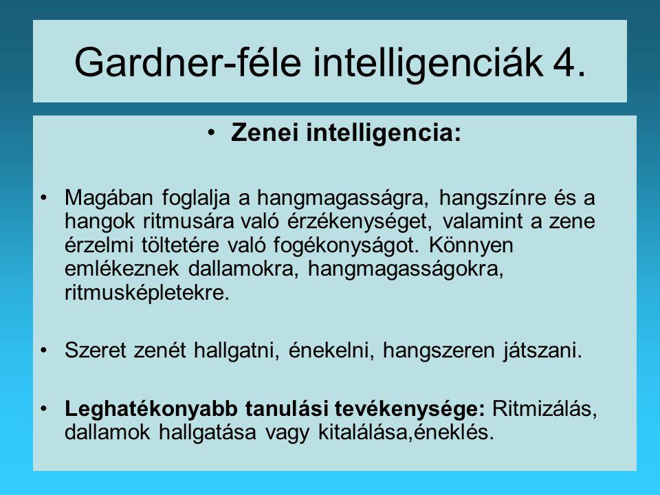 Gardner-féle intelligenciák 4.