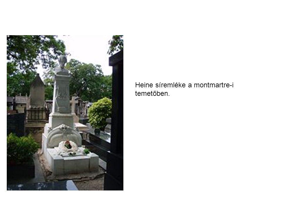 Heine síremléke a montmartre-i temetőben.