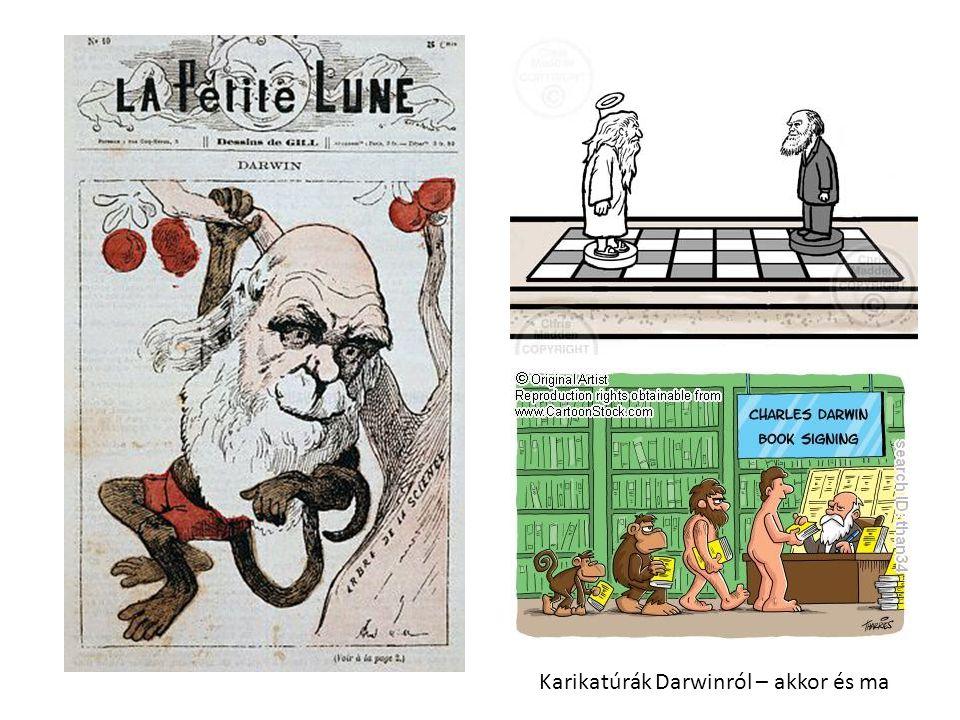 Karikatúrák Darwinról – akkor és ma