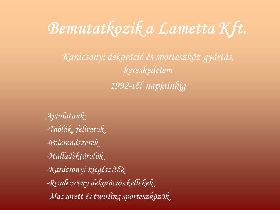 A tartalomról röviden A Lametta Kft.