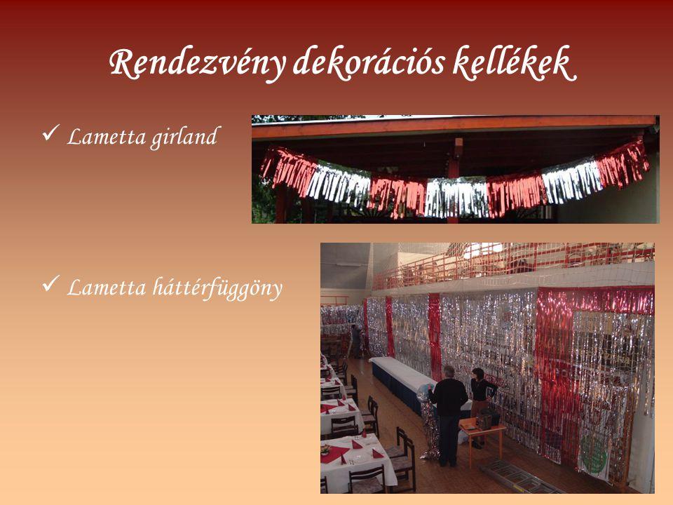 Rendezvény dekorációs kellékek Lametta girland Lametta háttérfüggöny