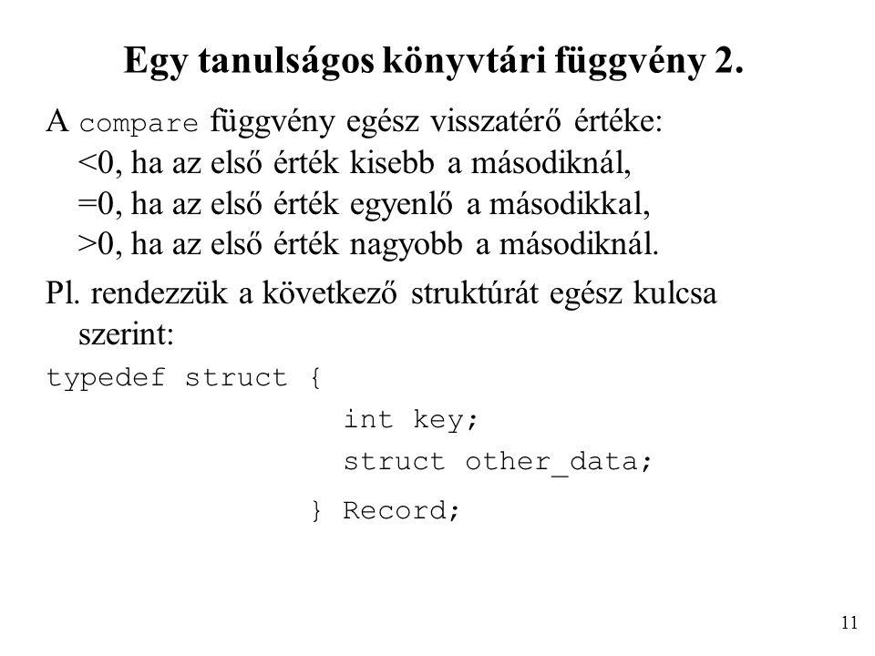 Egy tanulságos könyvtári függvény 2.