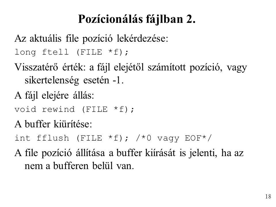 Pozícionálás fájlban 2.