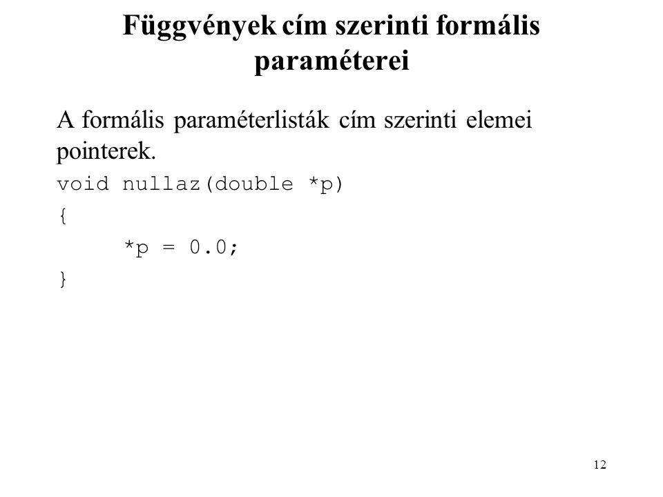 13 Két változó értékének felcserélése Hibás megoldás.