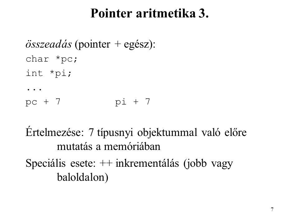 8 Pointer aritmetika 4.