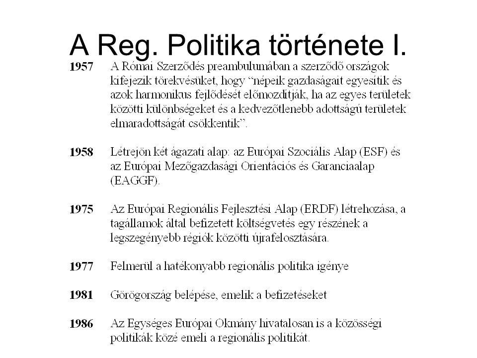 A Reg. Politika története I.
